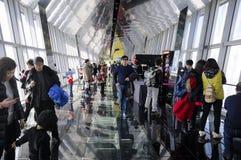 Tourists visiting Shanghai Financial center Royalty Free Stock Photos
