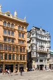 Tourists Visiting And Shopping On Graben Street Famous Stores Royalty Free Stock Photos
