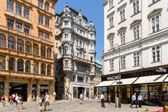 Tourists Visiting And Shopping On Graben Street Famous Stores Royalty Free Stock Images