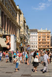 Tourists Visiting And Shopping On Graben Street In Vienna Stock Images
