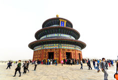 Tourists visiting the Temple of Heaven (Tiantan) Royalty Free Stock Images