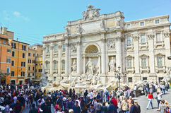 Tourists visiting the Trevi Fountain Stock Photos