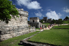 Tourists visiting Tulum, Mexico Stock Images