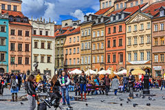 Tourists visits Old Town Square Stock Photo