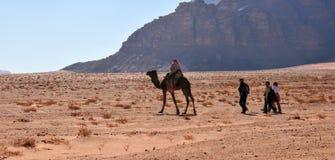 Tourists in Wadi Rum Desert, Jordan Stock Images