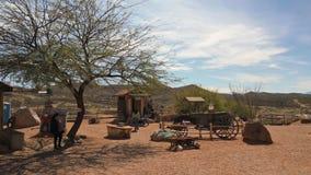 Tourists enjoy park in Tombstone, Arizona