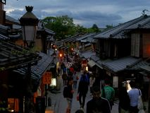 Kyoto at dusk stock image