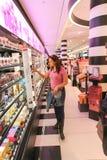 Tourists walk and souvenir store on Paris Royalty Free Stock Image