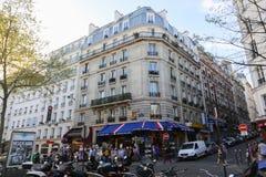 Tourists walk and souvenir store on Paris Royalty Free Stock Photo