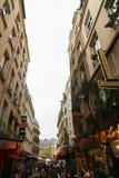 Tourists walk and souvenir store on Paris Stock Photo