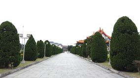 Tourists walking along in the garden at National Chiang Kai-shek Memorial Hall in Taiwan