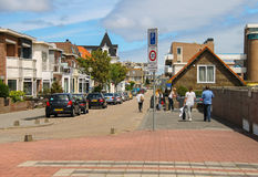 Tourists walking along the street in the center of Zandvoort Stock Photography