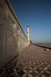 Tourists walking around the base of the Taj Mahal Royalty Free Stock Photo