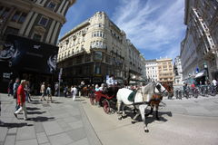 Tourists walking in the center of vienna Stock Photography