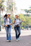 Tourists walking city Royalty Free Stock Images