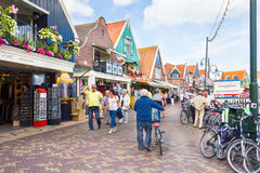 Tourists walking down the streets, on September 20, 2011 in Volendam, Netherlands Stock Image