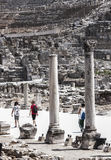 Tourists walking in Ephesus Turkey Royalty Free Stock Photography