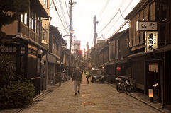 Tourists are walking on Gion district Royalty Free Stock Photos