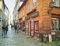 Tourists Walking In Cesky Krumlov Stock Photography