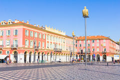 Tourists walking in the Place Massena, Nice, France Stock Image