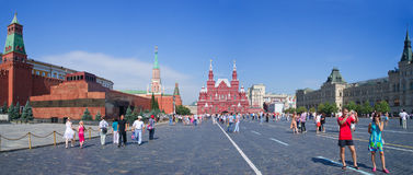 Tourists walking on Red Square in Moscow, Russia Royalty Free Stock Photography