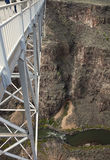 Tourists walking Rio Grande Gorge Bridge Stock Photography