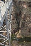 Tourists walking Rio Grande Gorge Bridge Stock Photography