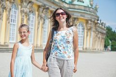 Tourists walking in Sans Souci Royalty Free Stock Photography