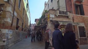 Tourists Walking on the Streets in Venice stock footage