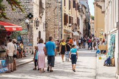 Tourists walking on the streets of Zadar, Croatia Royalty Free Stock Photo