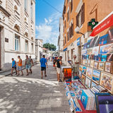 Tourists walking on the streets of Zadar, Croatia Royalty Free Stock Photos