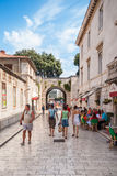 Tourists walking on the streets of Zadar, Croatia Stock Images