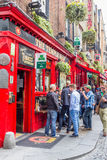 Tourists walking in the Temple Bar area, Dublin Royalty Free Stock Image
