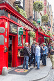 Tourists walking in the Temple Bar, Dublin, Ireland Stock Image
