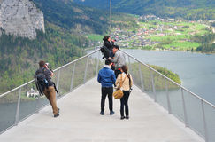Tourists walking to the viewing platform or skywalk Royalty Free Stock Photos