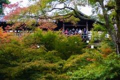 Tourists walking in Tofukuji temple in autumn season Stock Image