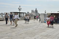 Tourists walking in Venice Stock Photos