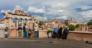 Roman Forum panoramic view Royalty Free Stock Photography
