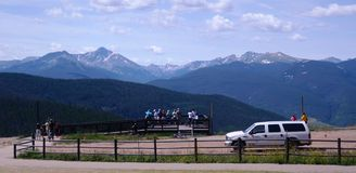 Tourists watching the landscape of Colorado Royalty Free Stock Image