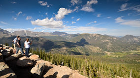 Tourists watching the views in Colorado royalty free stock photography