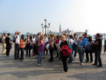 Tourists on the Waterfront Royalty Free Stock Photo