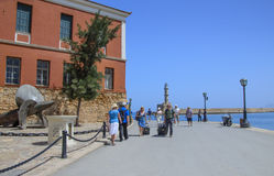 Tourists - the waterfront near the Maritime Museum Stock Photo