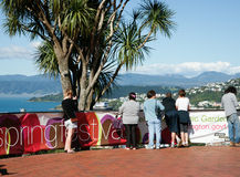 Tourists in wellington , New Zealand. Stock Photos