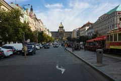 Tourists on Wenceslas Square Stock Images