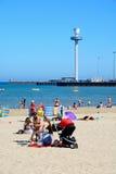 Tourists on Weymouth beach. Stock Photography