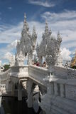 Tourists in The White temple, Chiang Rai, Thailand Stock Images
