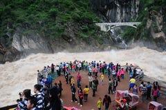 Tourists on the Yangtse River Royalty Free Stock Photo