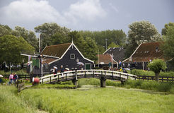 Tourists at Zaanse Schans in Holland Stock Photography