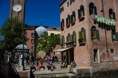 Touristy gezicht van Venetië royalty-vrije stock foto