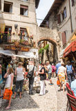 Touritst in Malcesine Royalty Free Stock Photo